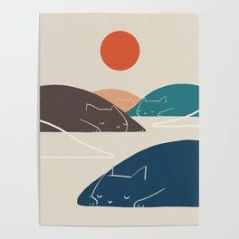 Cat Landscape 1 Poster