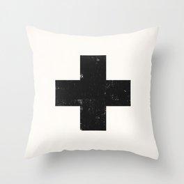Ski Patrol Sign Throw Pillow