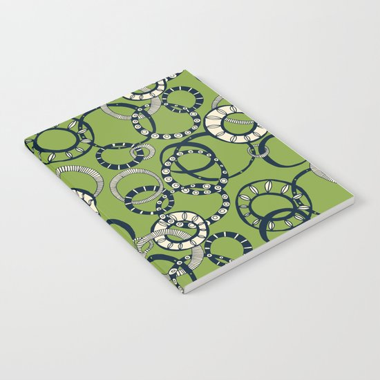 Honolulu hoopla green Notebook
