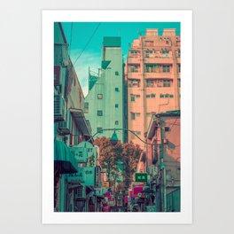 MANGA CITY 02 Art Print
