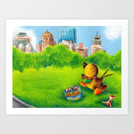 Bento Break in the Common Art Print
