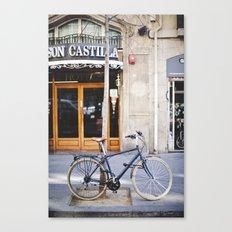 Barcelona Hipster Bike Canvas Print