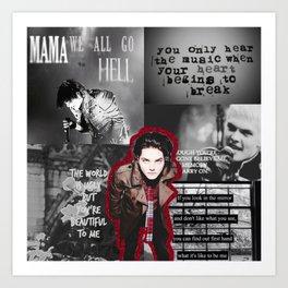 MCR Collage Art Print