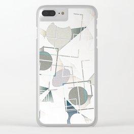 Sage White Bohemian Mandala Clear iPhone Case