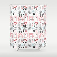 crossfit Shower Curtains featuring CrossFit Love by Golden Heart