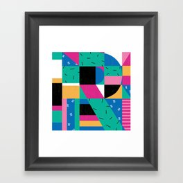 Letter R Framed Art Print