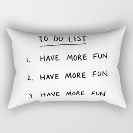 To Do List Rectangular Pillow