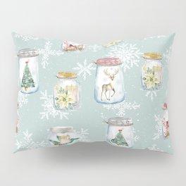 Christmas Jars Mint Pillow Sham