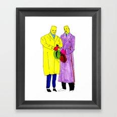 dudes Framed Art Print