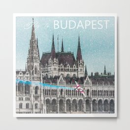 Fly to Budapest Metal Print