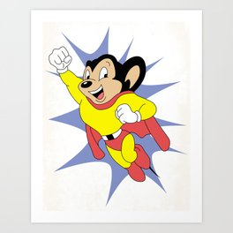 Mighty Mouse Art Print