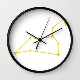 Leo (Yellow & White) Wall Clock