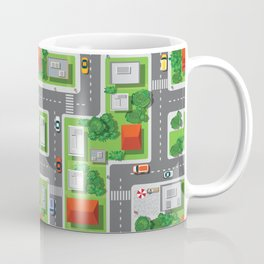 Fun Town Overview Pattern Coffee Mug