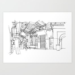 Souk of Marrakech, Morocco Art Print
