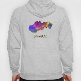Slovakia in watercolor Hoody