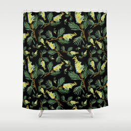 Australian Native Floral Pattern - Beautiful Grevillea Shower Curtain
