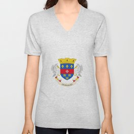 flag of Saint Barthelemy Unisex V-Neck