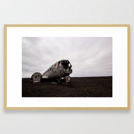 Sólheimasandur Plane Framed Art Print