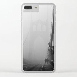 Gothic Bridge Clear iPhone Case