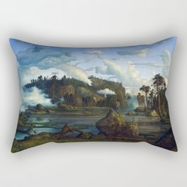 Lars Hertervig The Tarn Rectangular Pillow