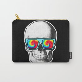 Psychadelic Skull Tiedye glasses Carry-All Pouch