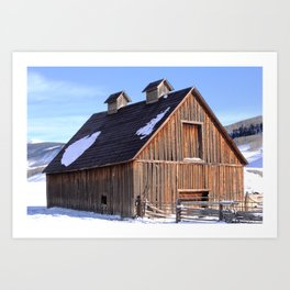 A Crested Butte, Colorado Barn at Below Zero Degrees Art Print