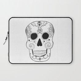 Dia de Muertos Skull (The Day of the Dead Skull) Laptop Sleeve