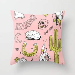 ARIZONA FLASH SHEET Throw Pillow