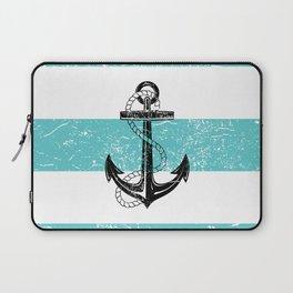 Vintage anchor beach background Laptop Sleeve