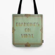Diamonds on Vinyl Tote Bag