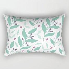 Sweet Blueberries & Mint Rectangular Pillow