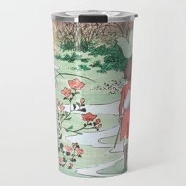 Arrietty Japanese woodblock mashup Travel Mug
