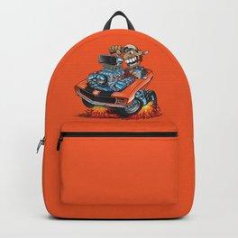 Classic '69 American Muscle Car Cartoon Backpack