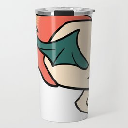 Flaming Flying Skull Travel Mug