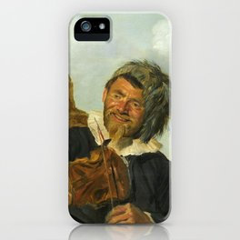 "Frans Hals ""Fisherman playing the violin"" iPhone Case"