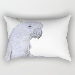 Contemplative Cockatoo Rectangular Pillow