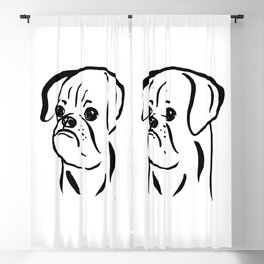 Petit Brabancon (Black and White) Blackout Curtain