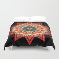 southwest Duvet Covers featuring Southwest Kaleidoscope  by North 10 Creations