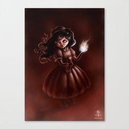 'Emma Fire Starter' Canvas Print
