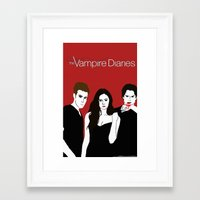 the vampire diaries Framed Art Prints featuring The Vampire Diaries  by Chandler Payne