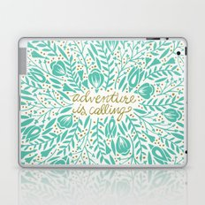 Adventure is Calling – Turquoise & Gold Palette Laptop & iPad Skin