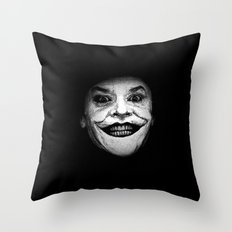 Jack Nicholson as The Joker - Pencil Sketch Style Throw Pillow