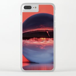 Winter morning in February Clear iPhone Case