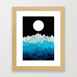 A rough winter's sea Framed Art Print