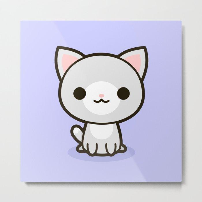 Kawaii Kitty 1 Metal Print