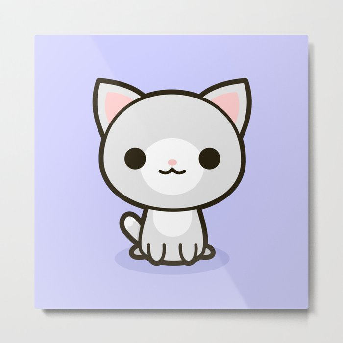 Kawaii Kitty 1 Metal Print