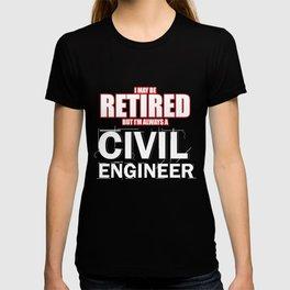 Civil Engineer Shirt Retired Construction Builder T-shirt