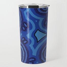 Aboriginal Art - Blue Campsites Travel Mug