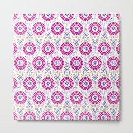 Pink Abstract Pattern Metal Print
