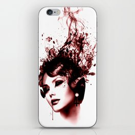 the woman in red iPhone Skin